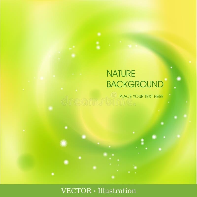 Fond abstrait avec le cercle vert futuriste. illustration libre de droits