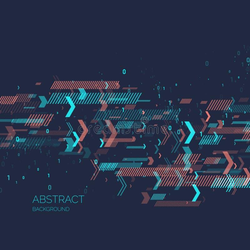 fond abstrait avec le code binaire Analyse et transfert des données illustration libre de droits