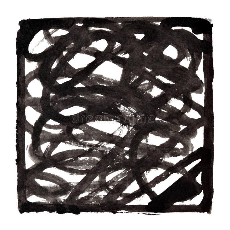 Fond abstrait avec le griffonnage illustration libre de droits