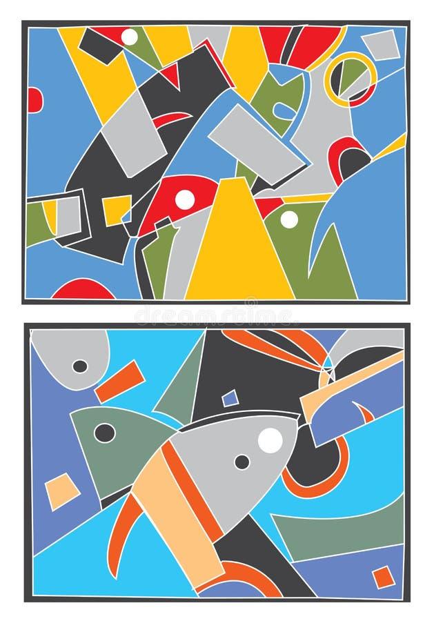 Fond abstrait avec le motif de mer illustration libre de droits