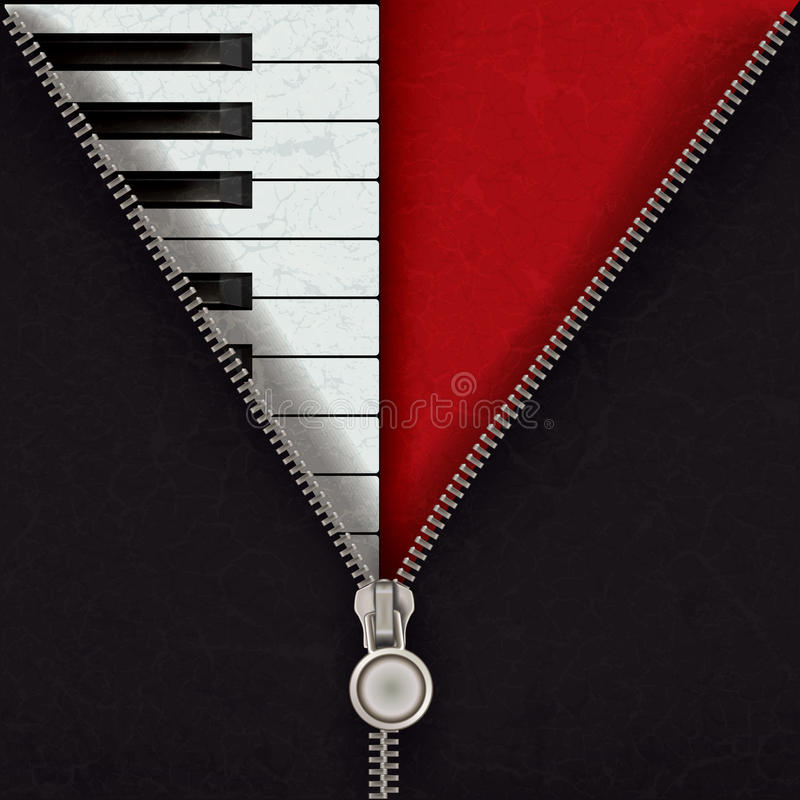 Fond abstrait avec le piano et la tirette ouverte illustration de vecteur