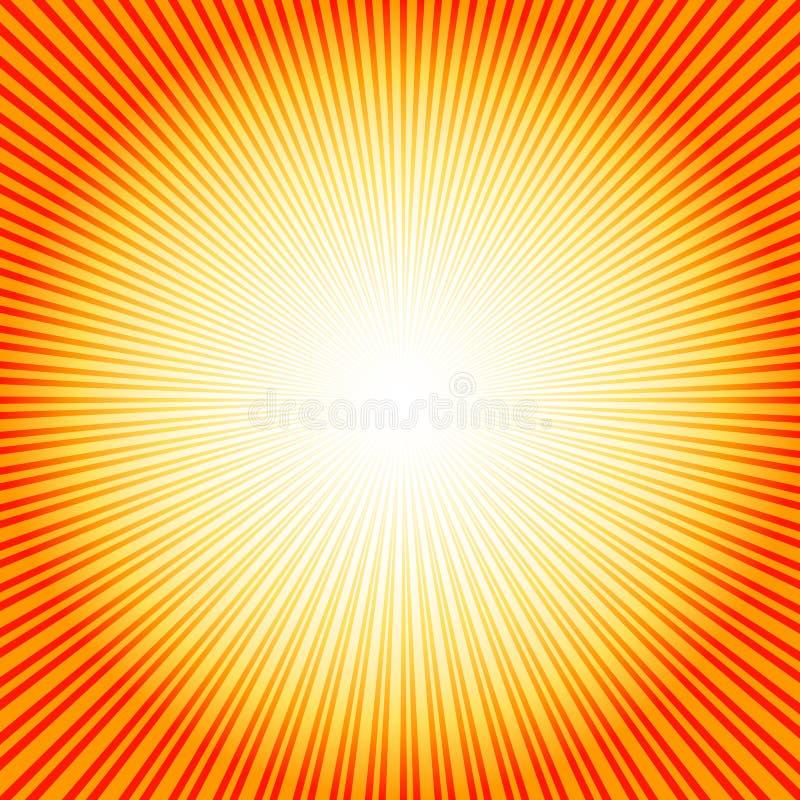 Fond abstrait avec le rayon de soleil (vecteur) illustration stock