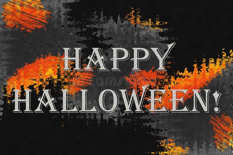 """Fond abstrait avec le texte """"Halloween heureux ! """" images libres de droits"""