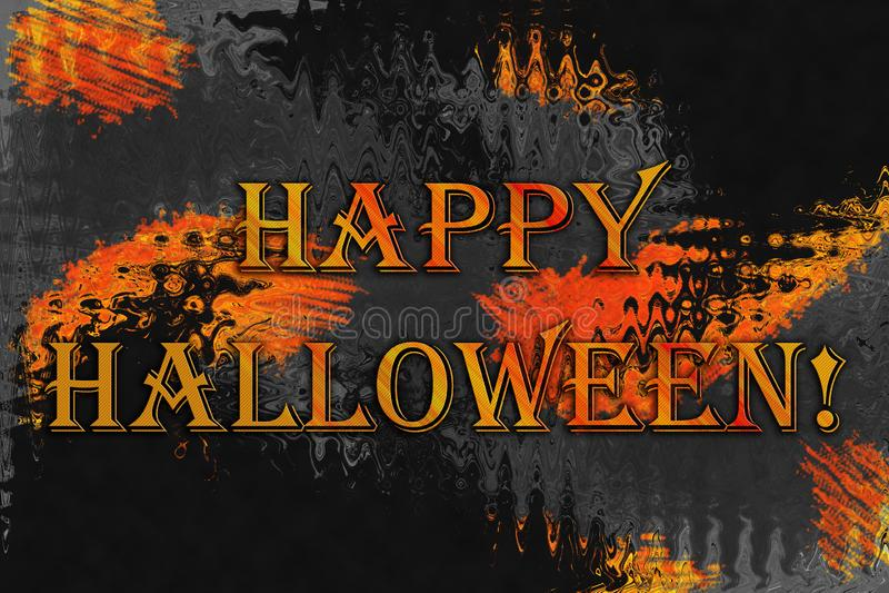 """Fond abstrait avec le texte """"Halloween heureux ! """" images stock"""