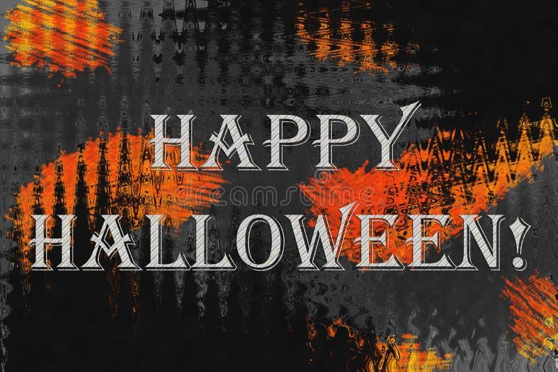 """Fond abstrait avec le texte """"Halloween heureux ! """" image stock"""