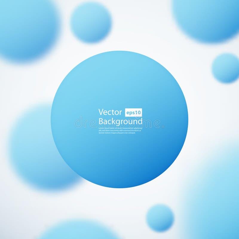 Fond abstrait avec les cercles blured illustration stock