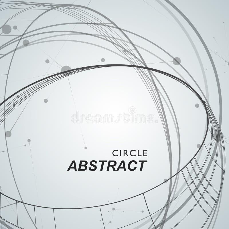 Fond abstrait avec les cercles et les points de recouvrement illustration libre de droits
