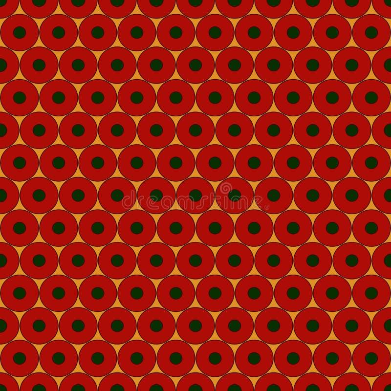 Fond abstrait avec les cercles répétés lumineux Modèle sans couture avec l'ornement géométrique Illustration de vecteur illustration de vecteur