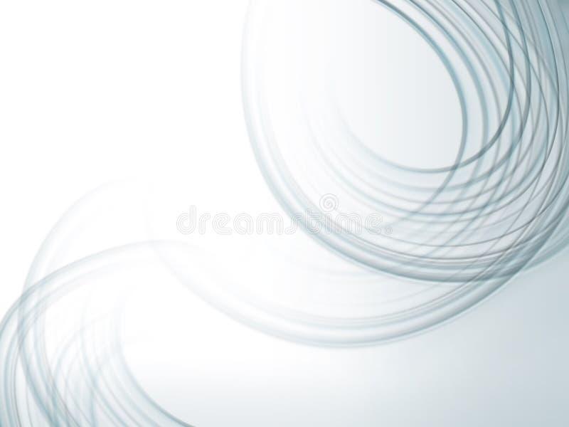 Fond abstrait avec les lignes fluied grises illustration libre de droits