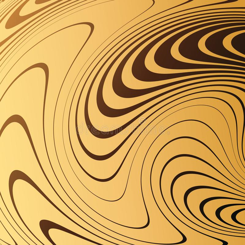 Fond abstrait avec les lignes tordues La courbure de l'espace Mouvement liquide illustration libre de droits