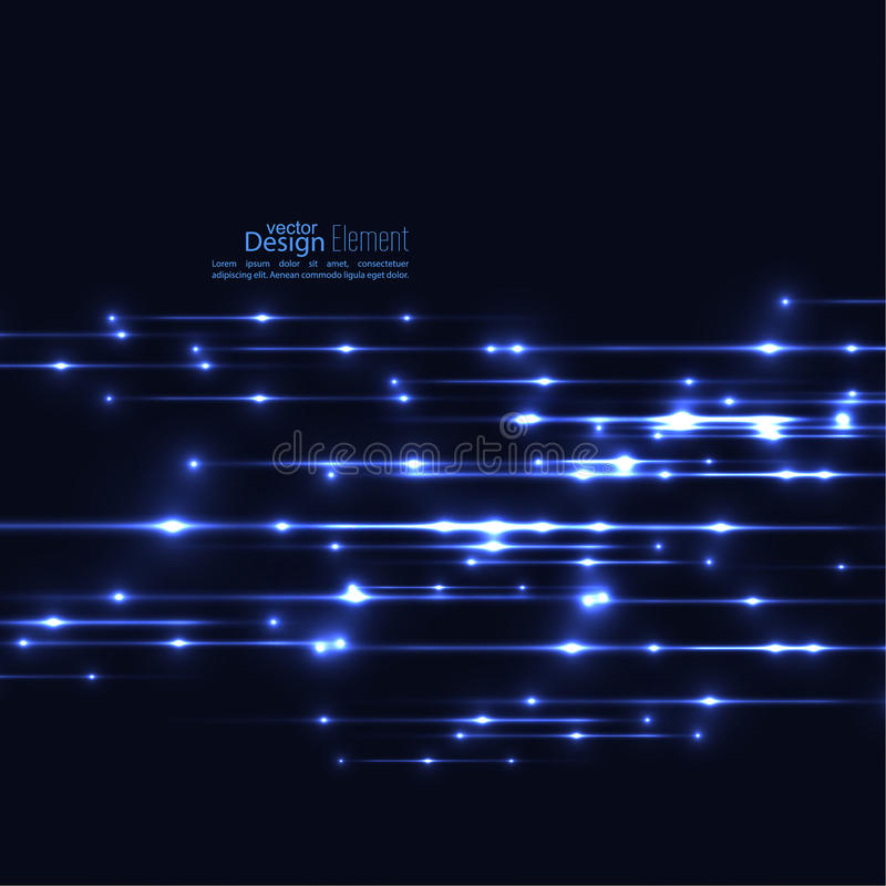 Fond abstrait avec les rayons rougeoyants illustration de vecteur