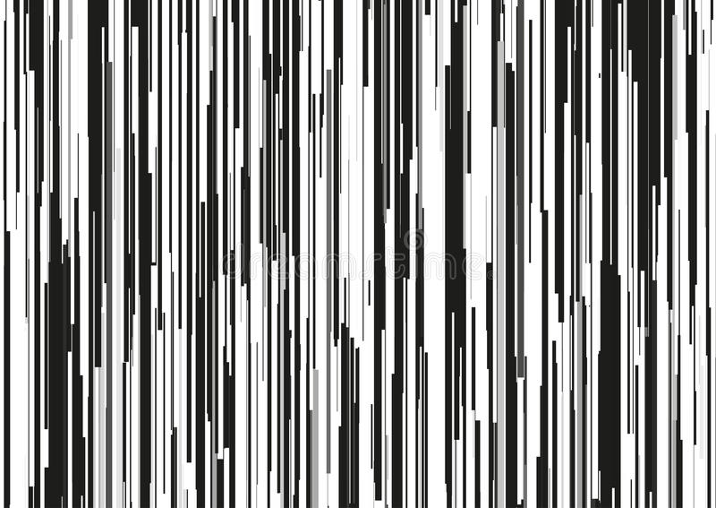 Fond abstrait avec les rayures verticales glitched, lignes de courant Concept de l'esthétique de l'erreur de signal illustration de vecteur