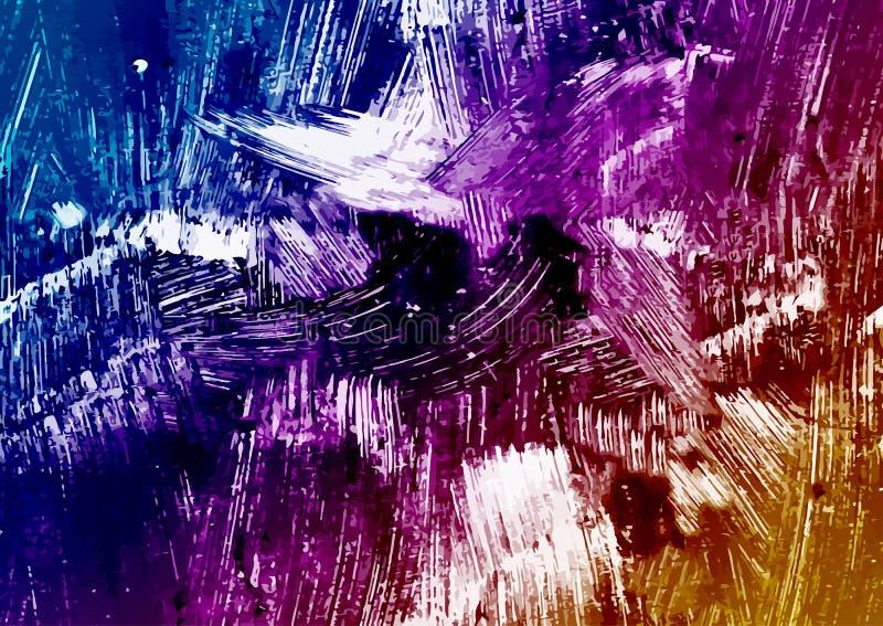 Fond abstrait avec les taches colorées de la peinture Conception abstraite moderne lumineuse illustration libre de droits
