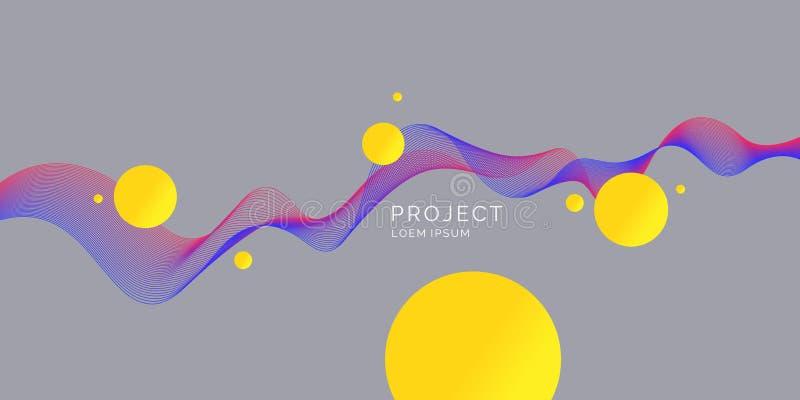 Fond abstrait avec les vagues dynamiques Illustration de vecteur illustration libre de droits