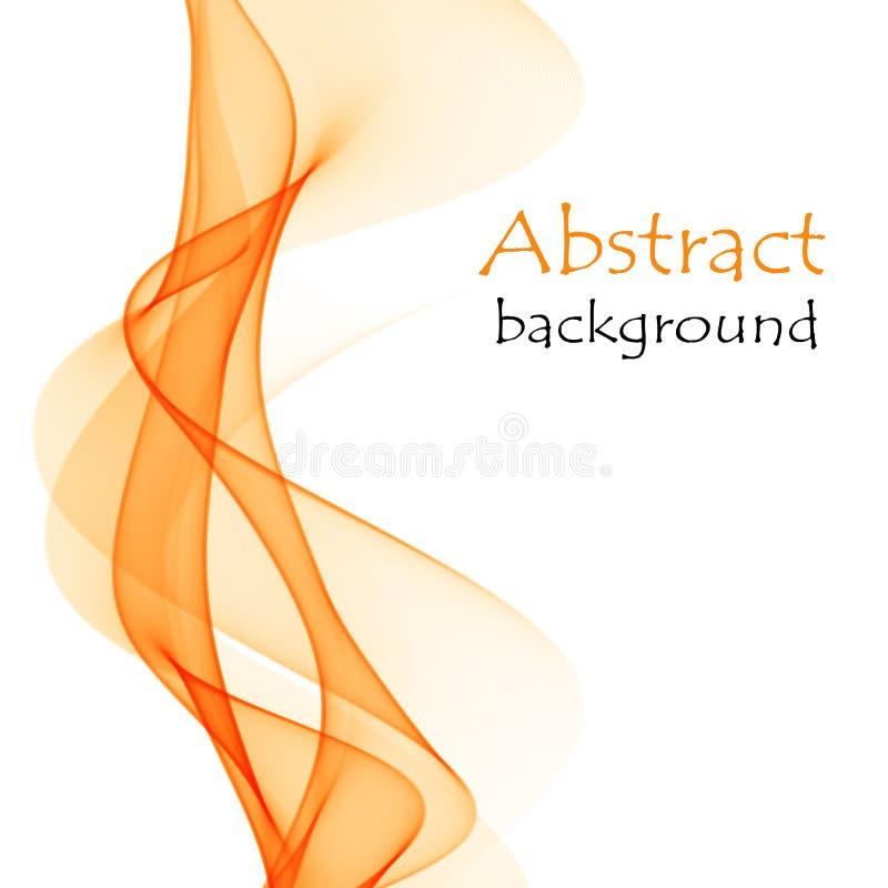 Fond abstrait avec les vagues oranges du matériel transparent de vol illustration stock