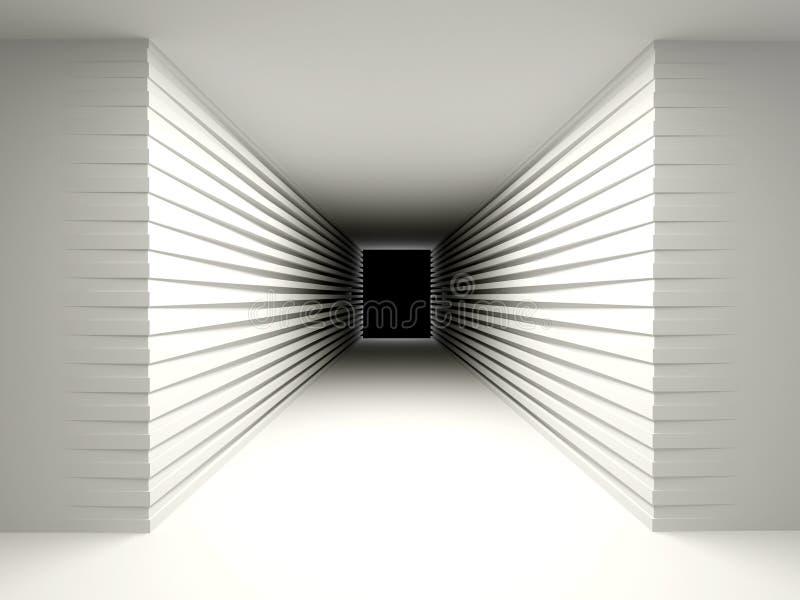 Fond abstrait avec un couloir sombre. illustration de vecteur