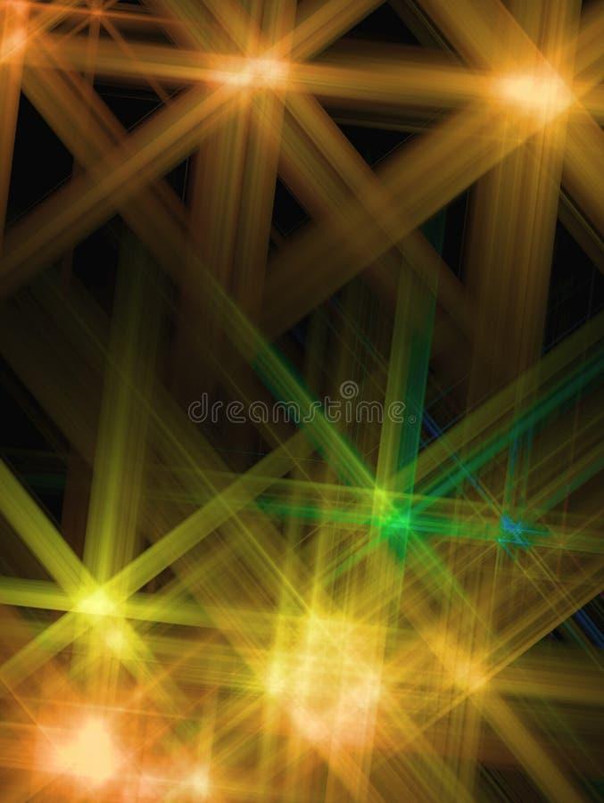Fond abstrait avec une étoile jaune brillée illustration stock