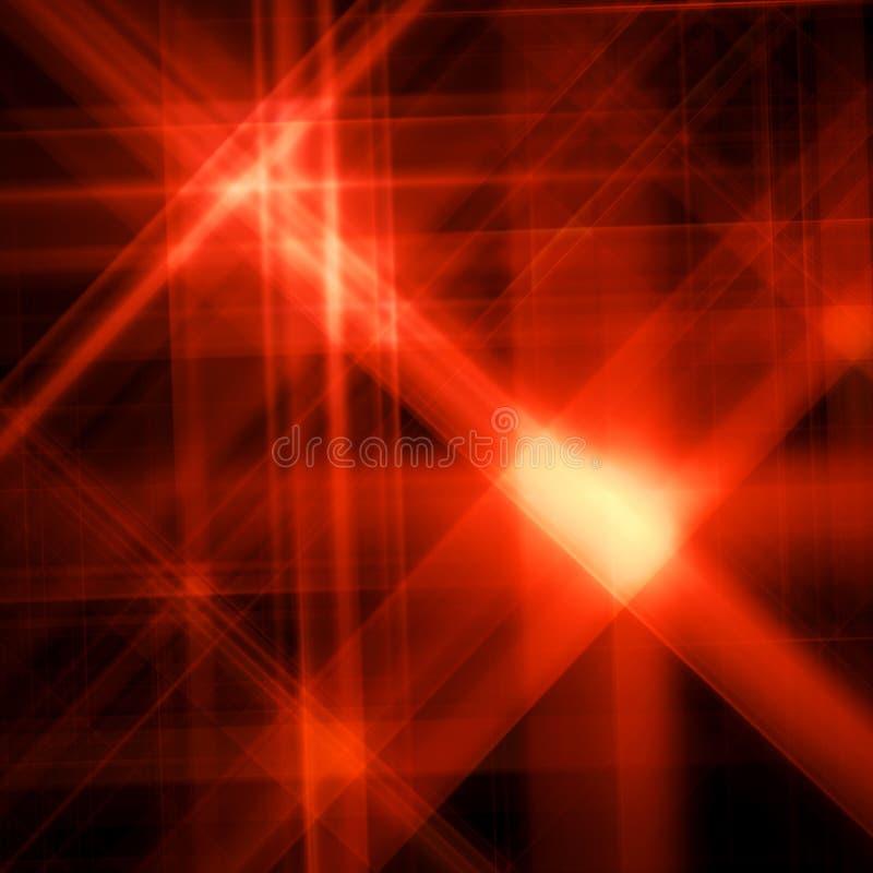 Fond abstrait avec une étoile rouge brillée illustration libre de droits