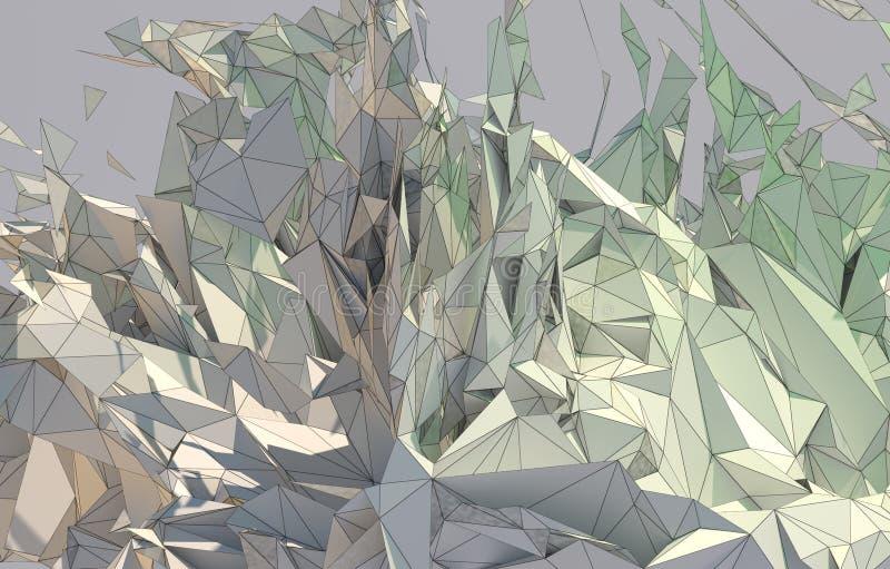 Fond abstrait, basse poly fractale illustration libre de droits