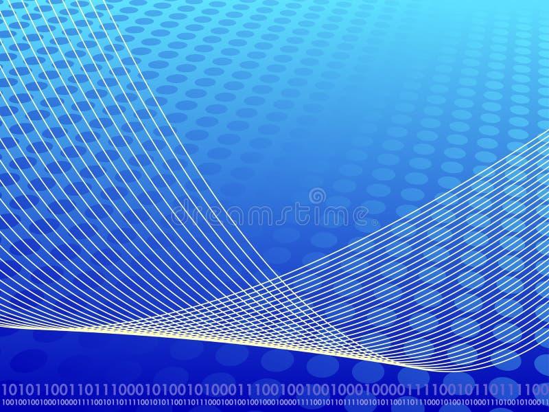 Fond abstrait binaire d'affaires illustration stock