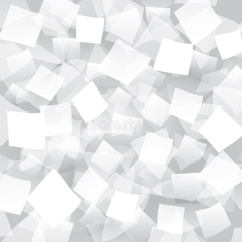 Fond abstrait blanc avec les objets géométriques illustration de vecteur