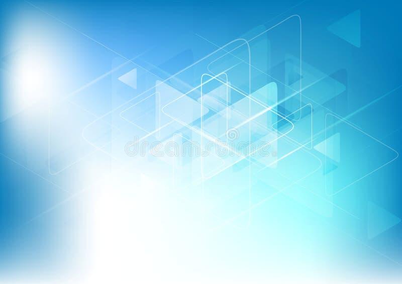 Fond abstrait blanc bleu de technologie illustration libre de droits