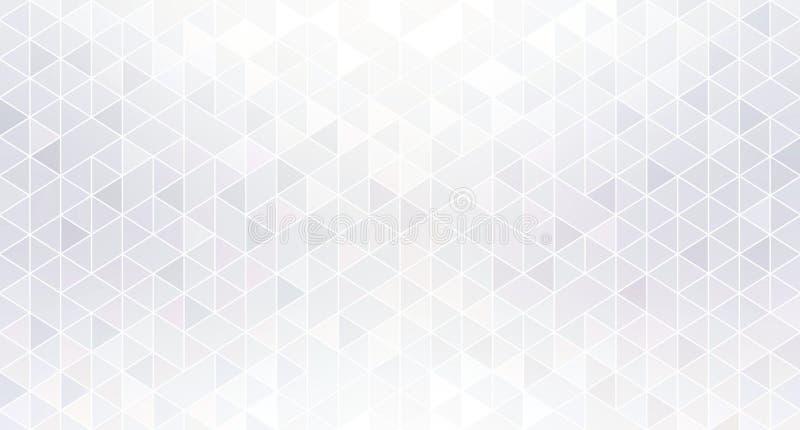 Fond abstrait blanc géométrique brillant Miroitez le papier peint subtil de mosaïque illustration de vecteur