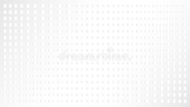 Fond abstrait blanc lumi?re Cercle et ellipse illustration stock