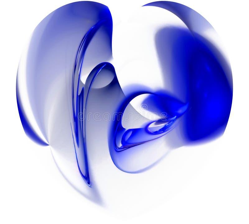 Fond abstrait bleu illustration de vecteur