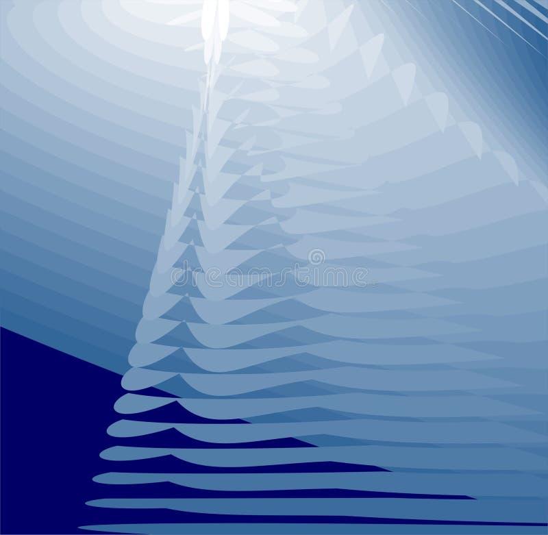 Fond abstrait - bleu illustration de vecteur