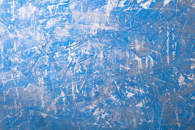 Fond abstrait bleu avec des ?raflures Surface vide avec la texture prononcée photographie stock