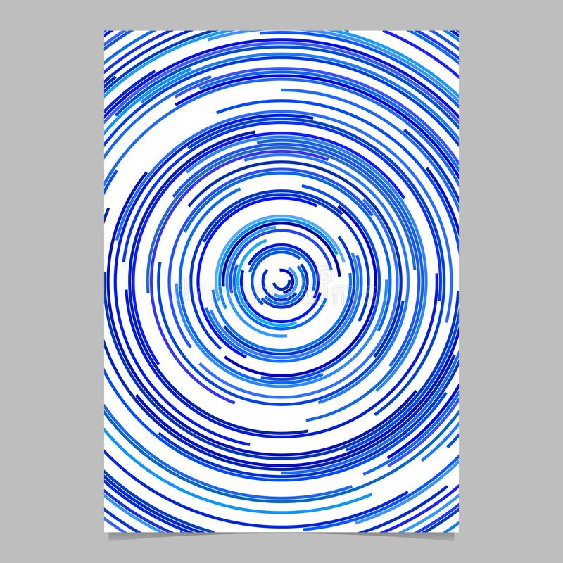 Fond abstrait bleu d'affiche des anneaux concentriques illustration libre de droits