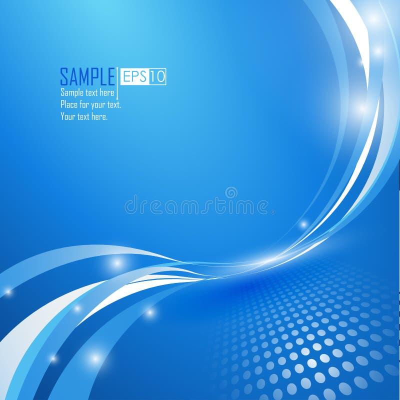 Fond abstrait bleu d'onde illustration stock