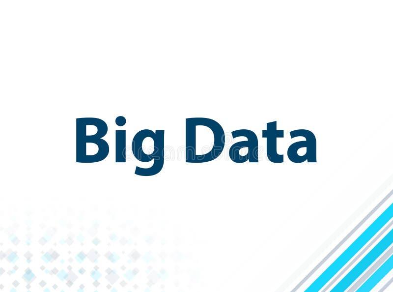 Fond abstrait bleu de conception plate moderne de Big Data illustration de vecteur