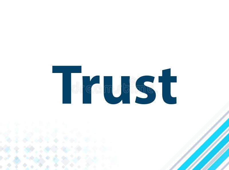 Fond abstrait bleu de conception plate moderne de confiance illustration de vecteur