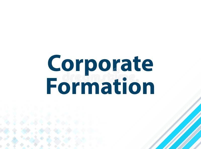 Fond abstrait bleu de conception plate moderne d'entreprise de formation illustration stock