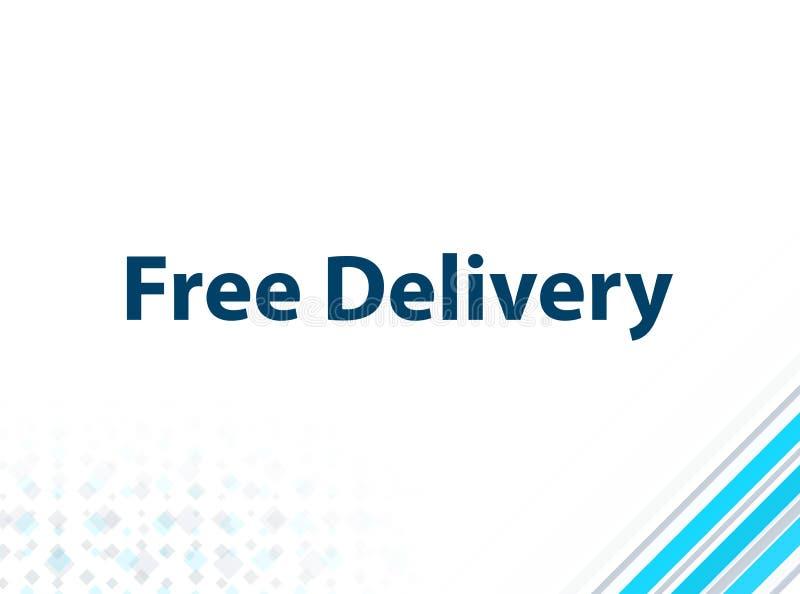Fond abstrait bleu de conception plate moderne libre de la livraison illustration libre de droits