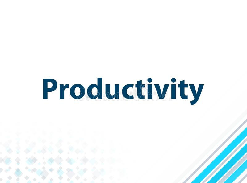 Fond abstrait bleu de conception plate moderne de productivité illustration stock