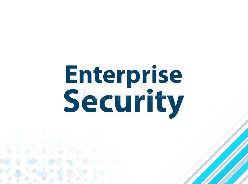 Fond abstrait bleu de conception plate moderne de sécurité d'entreprise illustration de vecteur