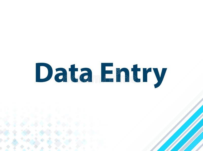 Fond abstrait bleu de conception plate moderne de saisie de données illustration stock