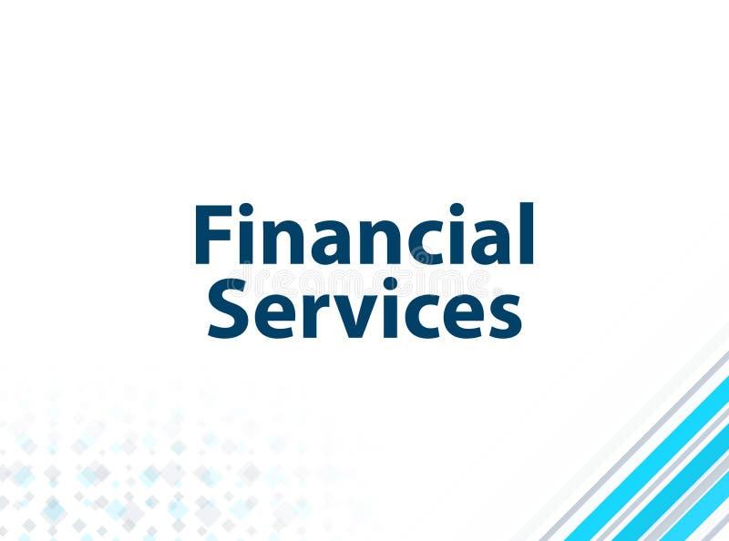 Fond abstrait bleu de conception plate moderne de services financiers illustration libre de droits