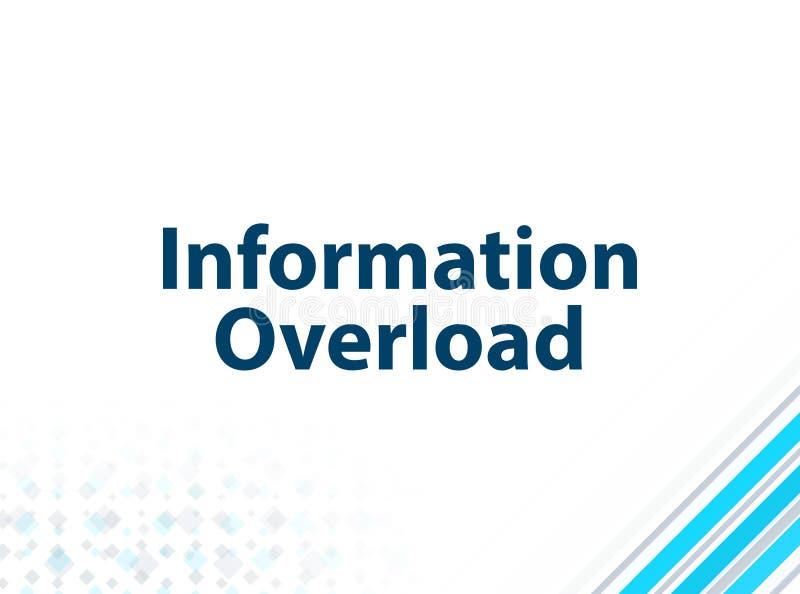 Fond abstrait bleu de conception plate moderne de surcharge d'information illustration de vecteur