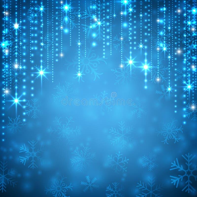 Fond abstrait bleu de Noël illustration libre de droits