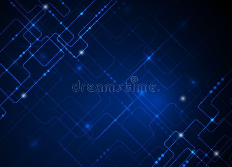 Fond abstrait bleu de pointe de technologie d'illustration de vecteur illustration libre de droits