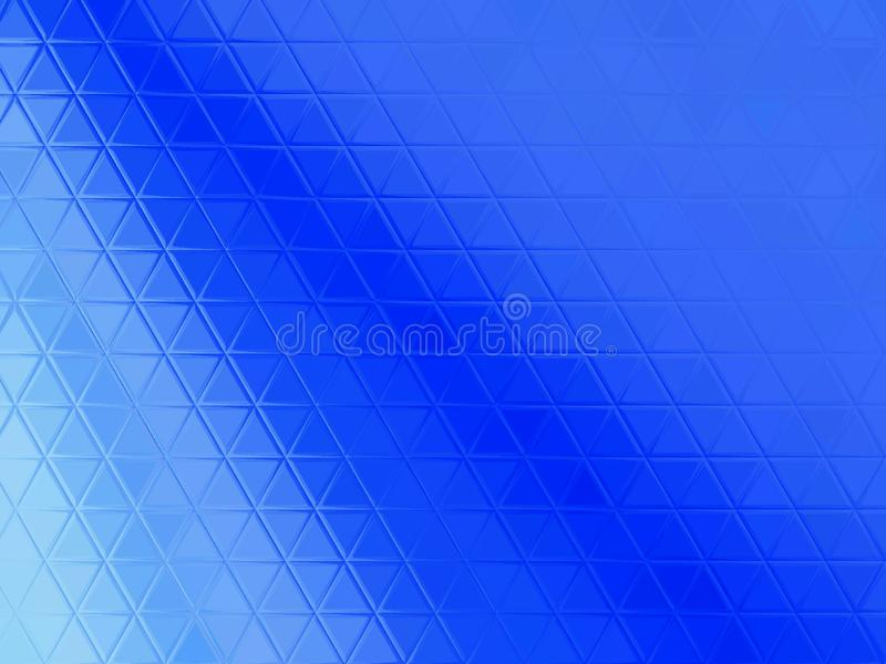 Fond abstrait bleu de triangles images stock