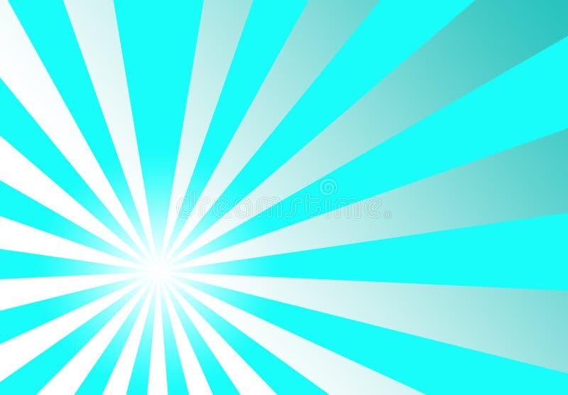 Fond abstrait bleu de Turqouise de rayon de soleil illustration de vecteur