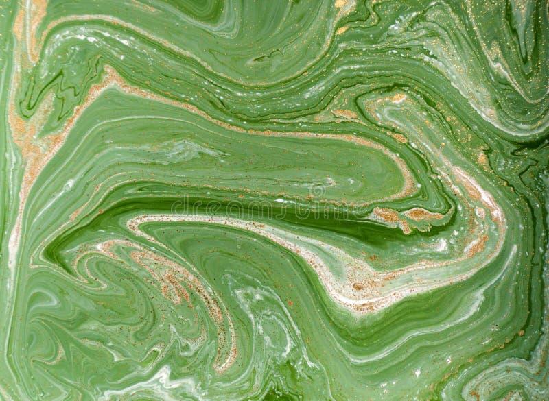Fond abstrait bleu marbré Modèle de marbre liquide photo libre de droits