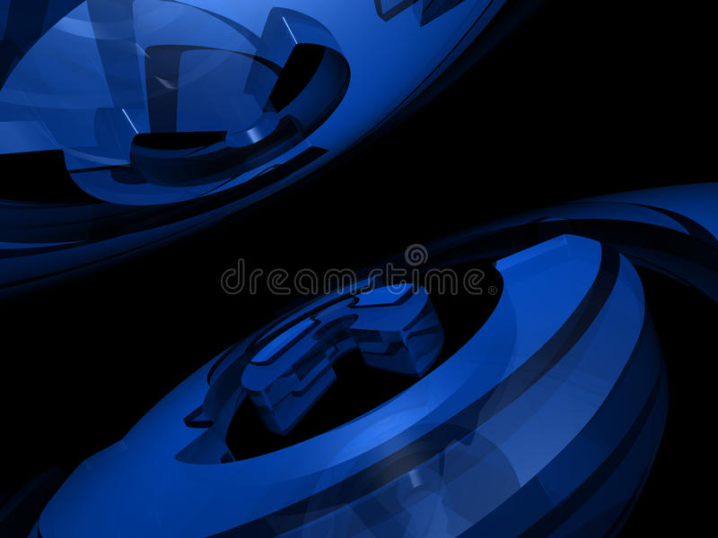 Fond abstrait - boucles illustration stock
