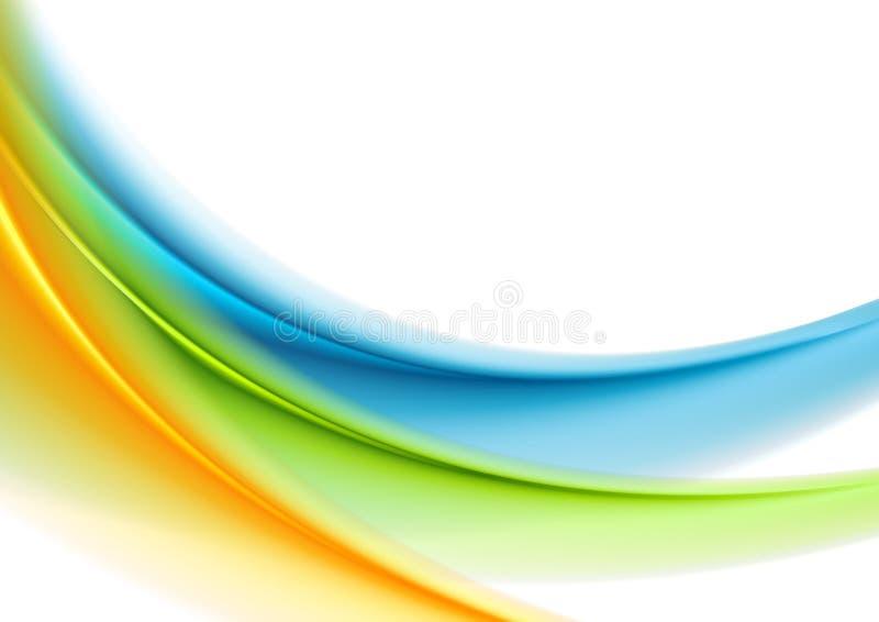 Fond abstrait brouillé doux coloré de vagues illustration stock