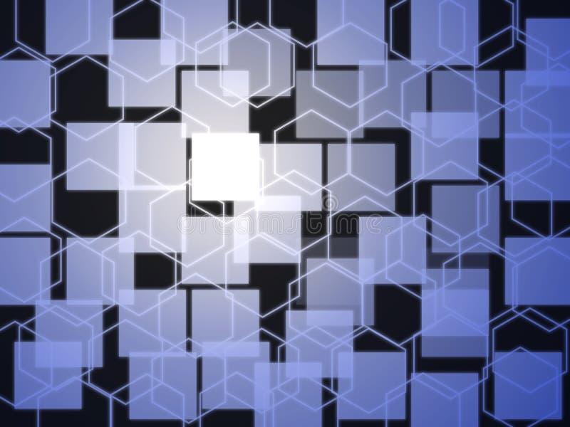 Fond abstrait carré illustration libre de droits